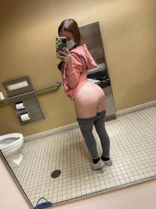 Topsitecam Laney Grey public bathroom shot
