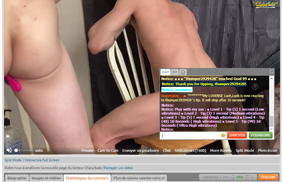 Chaturbate Gay User Interface